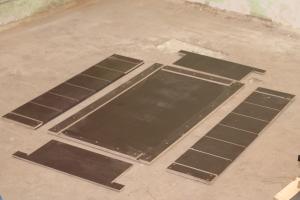 Поддон формы  (6 блоков) ламинированная фанера