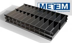 Форма металлическая кассетная 588*300*100 без опорного листа и замков