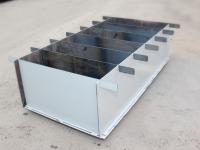 Борта с перегородками для блоков (6 блоков) металл